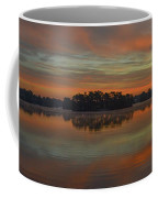 December Sunrise Over Spring Lake Coffee Mug by Beth Sawickie