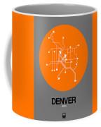 Denver Orange Subway Map Coffee Mug