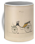 Design For Cabriolet Or Victoria, No. 3221 Brewster And Co. American, New York Coffee Mug