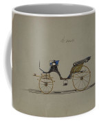 Design For Cabriolet Or Victoria, No. 3558  1879 Coffee Mug