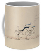 Design For Driving Phaeton Unnumbered Brewster And Co. American, New York Coffee Mug