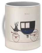 Design For Glass Panel Coach, No. 3133  1875 Coffee Mug