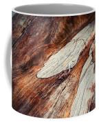 Detail Of Abstract Shape On Old Wood Coffee Mug