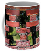 Details Of A Red Brick Wall With Pattern Coffee Mug