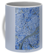 Detroit Map Retro 5 Coffee Mug