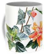 Double Orange Hibiscus With Buds Coffee Mug