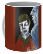 Double Portrait On Black Coffee Mug
