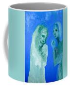Double Portrait On Blue Sky Coffee Mug