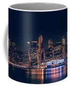 Downtown At Night Coffee Mug by Dheeraj Mutha