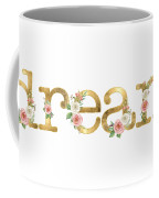 Dream - Blush Pink Floral Word Art Decor Coffee Mug