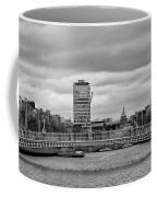 Dublin Ireland - Ha Penny Bridge In Black And White Coffee Mug