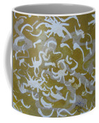 Dull Yellow With Masking Fluid Coffee Mug by AJ Brown