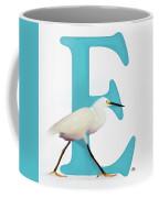 E Is For Egret Coffee Mug
