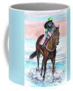 Early Morning Gallop Coffee Mug by Val Stokes