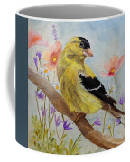 Early Spring American Goldfinch Coffee Mug by Angeles M Pomata