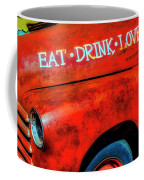 Eat Drink Love Rusty Truck Coffee Mug
