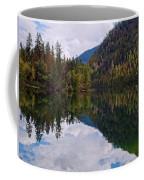 Echo Lake Early Autumn Reflection Coffee Mug