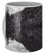 Echo Lake Reflection Black And White Coffee Mug