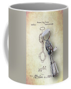 Eggbeater With Antique Eggbeater Patent Coffee Mug