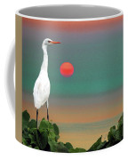 Egret At Evening Coffee Mug