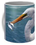 Egret Feeding  Coffee Mug