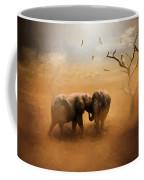 Elephants At Sunset 072 - Painting Coffee Mug