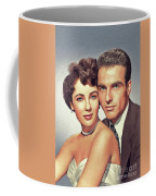 Elizabeth Taylor And Montgomery Clift, Hollywood Legends Coffee Mug