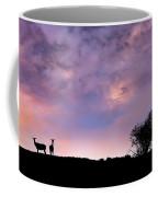 Elk Silhouette Sunset Coffee Mug by Leland D Howard