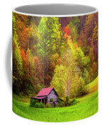 Embraced In Autumn Color Painting Coffee Mug