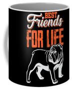 English Bulldog Best Friends For Life Coffee Mug