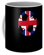 English Soccer Design British Flag Soccer Ball Coffee Mug
