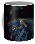 Italy From Space At Night Coffee Mug