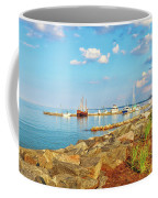 Evening At Riverwalk Landing In Yorktown Virginia Coffee Mug by Ola Allen