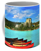 Fairmont Chateau Lake Louise Coffee Mug by Ola Allen