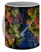 Fall Aerial With Bridge Coffee Mug
