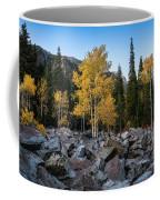 Fall Trees In The Rocks Coffee Mug by James Udall
