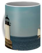 Fame Sailing Into Salem Harbor Coffee Mug by Jeff Folger