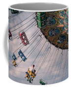 Father And Son On The Swings Coffee Mug