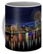 Fireworks And Tillikum Crossing Coffee Mug