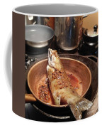 Fish In A Pan Coffee Mug by Rosanne Licciardi