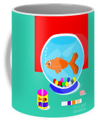 Fish Tank With Fish And Complete Kit Coffee Mug
