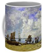 Fishermens Wives At The Seaside - Digital Remastered Edition Coffee Mug