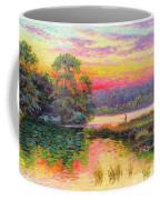 Fishing In Evening Glow Coffee Mug