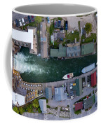 Fishtown Dam Panorama From Above Coffee Mug