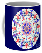 Floral Charactered Abstract Mandala Coffee Mug by Catherine Lott