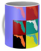 Florida Pop Art Map Coffee Mug