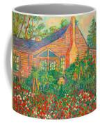 Flowery Backyard Coffee Mug