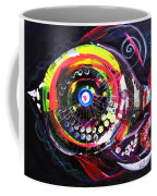 Fluorescent Fish And Friend Coffee Mug