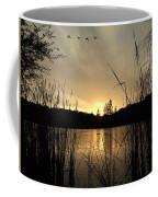 Flying Through A Sunset Coffee Mug