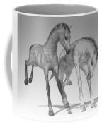 Foals Black And White Bleached Coffee Mug